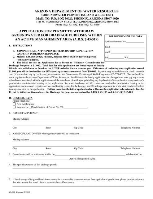 Form 519  Printable Pdf