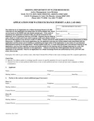 "Form 1041 ""Application for Water Exchange Permit"" - Arizona"
