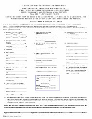 Form DWR 55-41A Notice of Intention to Drill a Non-exempt Well Pursuant to a Groundwater Withdrawal Permit (Other Than a General Industrial Use Permit) in an Active Management Area - Arizona