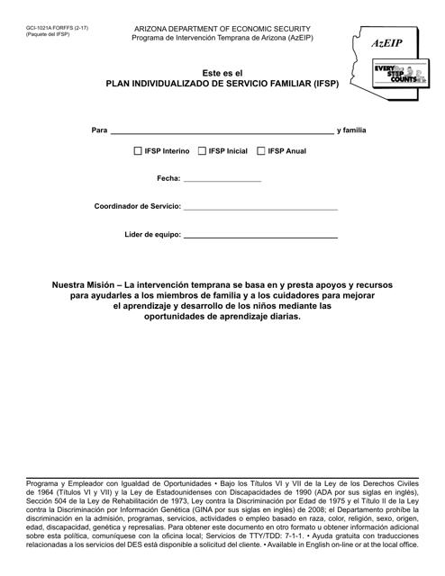 Form GCI-1021A-P Fillable Pdf