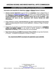 Form ADR 814 Standards Of Conduct - Arizona