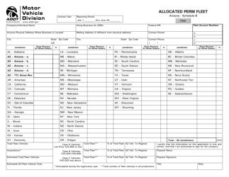 "Schedule B ""Allocated Perm Fleet"" - Arizona"