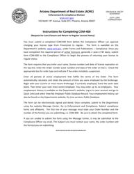 "Form COM-400 ""Compliance - Case Closure (Request for Case Closure)"" - Arizona"