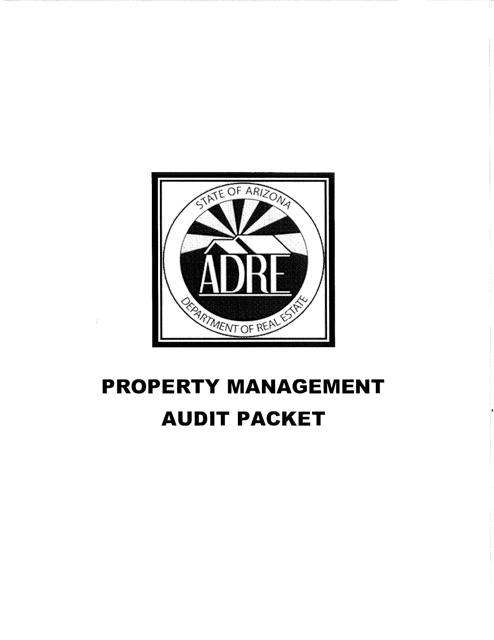 """Property Management Audit Packet"" - Arizona Download Pdf"
