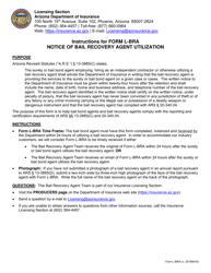 "Form L-BRA ""Notice of Bail Recovery Agent Utilization"" - Arizona"