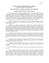 First Amendment to Mortgage Origination Agreement - Home Plus Home Loan Program - Arizona