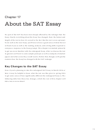 """Official Sat Study Guide: Chapter 17 - About the Sat Essay - the College Board"", 2016"