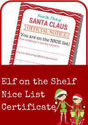 """Santa's Nice List Certificate Template"""