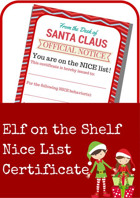 """Santa's Nice List Certificate Template"" Download Pdf"