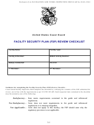 """Facility Security Plan (Fsp) Review Checklist"""