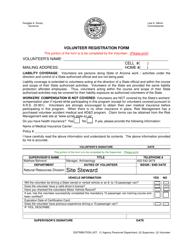 """Volunteer Registration Form"" - Arizona"