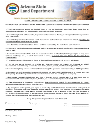 """State Land Recreational Permit Application Form"" - Arizona"