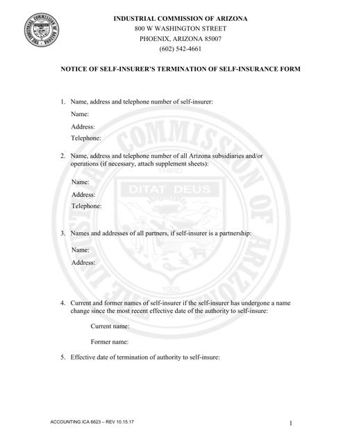Form Accounting ICA6623 Printable Pdf