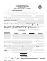Form ADOSH ICA 2223 Request for Certificate Inspection of Installation or Reinstallation of Boiler or Fired Pressure Vessel - Arizona