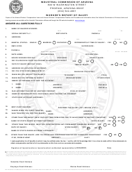 Form Claims ICA 0407 Worker's Report of Injury - Arizona