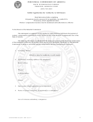 Form Accounting ICA 6622 Initial Application for Authority to Self-insure - Arizona