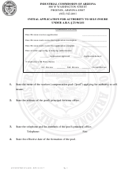 Form Accounting ICA 6624 Initial Application for Authority to Self-insure Under a.r.s. 23-961.01 - Arizona