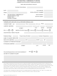 Form SpecFunds ICA 5525 Carrier's Notification of Scheduled Injury - Arizona