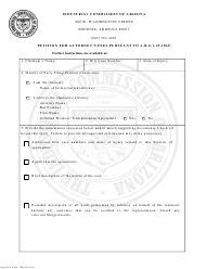 Form Legal ICA 4404 Petition for Attorney's Fees Pursuant to a.r.s. 23-1069 - Arizona