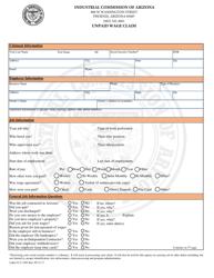 Form Labor ICA 3303 Unpaid Wage Claim - Arizona