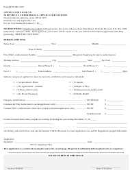 """Form DP-30 """"Application for an Individual Commercial Applicator License"""" - Arkansas"""