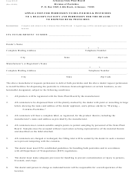 Form DP-42 Application for Permission to Deliver Bulk Pesticides to a Dealer's Facility and Permission for the Dealer to Dispense Bulk Pesticides - Arkansas