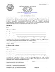 "Form AID-LI-LS ""License Surrender Form"" - Arkansas"
