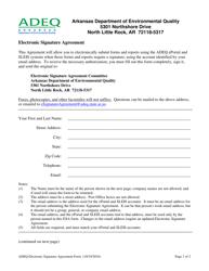 """Electronic Signature Agreement Form"" - Arkansas"