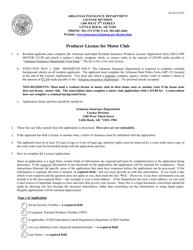 "Form AID-LI-RP MOTOR CLUB ""Uniform Application for Arkansas Individual Resident Insurance Producer License"" - Arkansas"