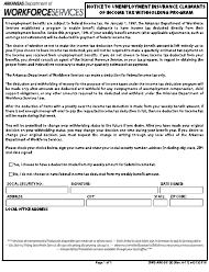 "Form DWS-ARK-501(6) ""Notice to Unemployment Insurance Claimants of Income Tax Withholding Program"" - Arkansas"