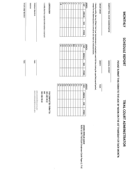 """Monthly Schedule Report Form - Trial Court Administrator"" - Arkansas"
