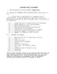 """Informational Statement Form"" - Arkansas"