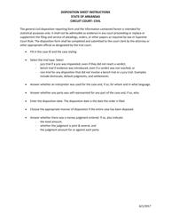 """""""Civil Disposition Sheet Instructions"""" - Arkansas"""