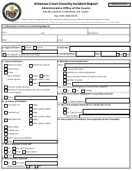 """Arkansas Court Security Incident Report Form"" - Arkansas"