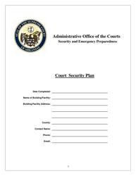 """Court Security Plan Template"" - Arkansas"
