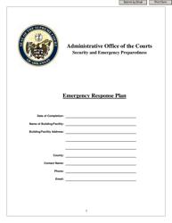 """Emergency Response Plan - Security and Emergency Preparedness"" - Arkansas"