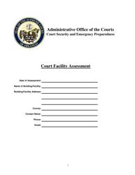 """Court Facility Assessment Form"" - Arkansas"