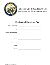 """Continuity of Operations Plan"" - Arkansas"
