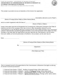Form DBO-55 Appointment of Commissioner of Business Oversight as Attorney for Service of Process - California