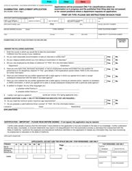 "Form STD.678 ""Examination / Employment Application"" - California"