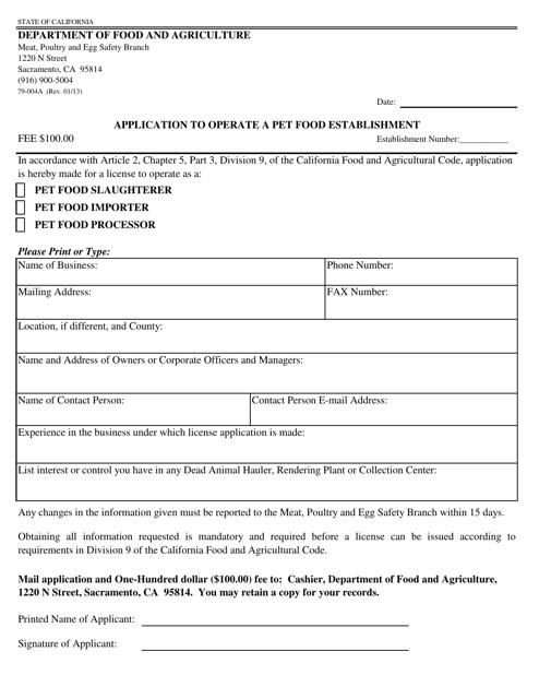 Form 79-004A  Printable Pdf