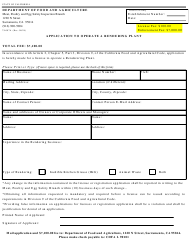 Form 79-007A Application to Operate a Rendering Plant - California