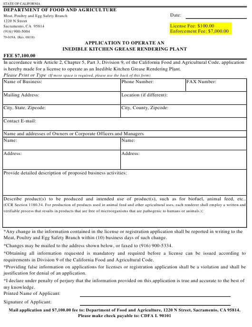 Form 79-019A Printable Pdf