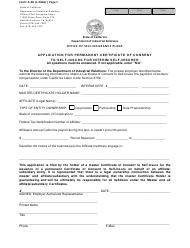 "Form A-3B ""Application for Permanent Certificate of Consent to Self-insure for Interim Self-insurer"" - California"