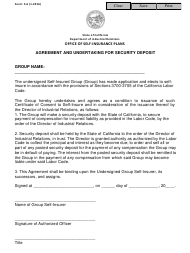 """Form S-6 """"Agreement and Undertaking for Security Deposit"""" - California"""