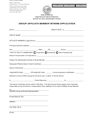 "Form S-2A ""Group Affiliate Member Interim Application"" - California"