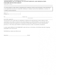 """Form CDI-052 """"Appointment of Attorney to Accept Service and Designation for Risk Retention Group"""" - California, Page 2"""