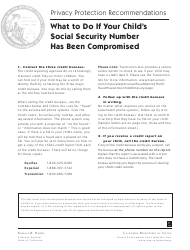 What to Do if Your Child's Social Security Number Has Been Compromised - Sample Letters - California