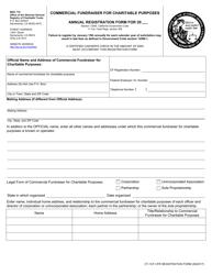 "Form CT-1CF ""Annual Registration Form"" - California"