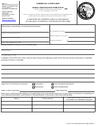 "Form CT-5CF ""Annual Registration Form - Commercial Coventurer"" - California"